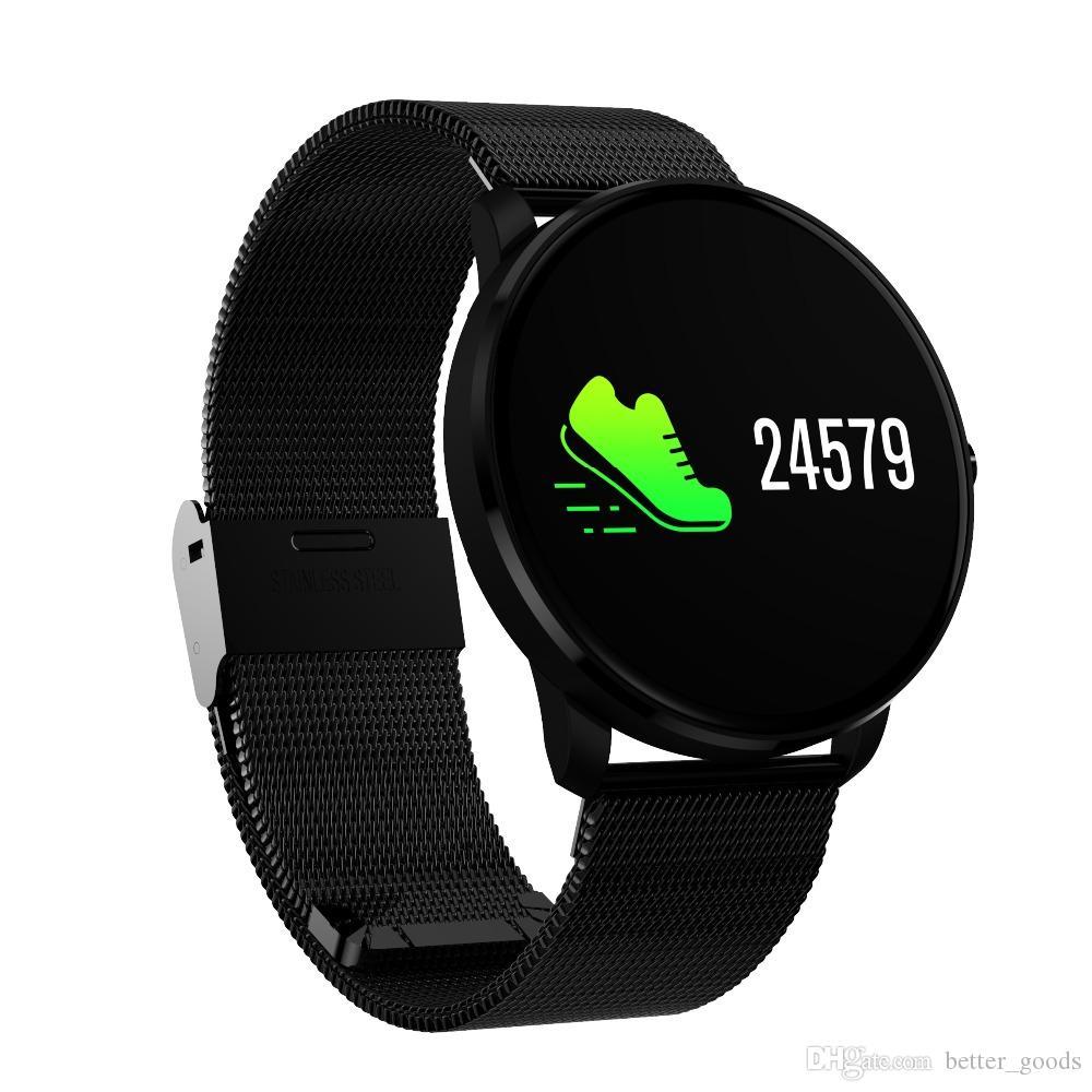 CF007S Smart-Armband-Blutdruck-Blut-Sauerstoff-Puls-Monitor-Smart Watch bunter Schirm Pedometer Sport-Uhr für IOS Andorid