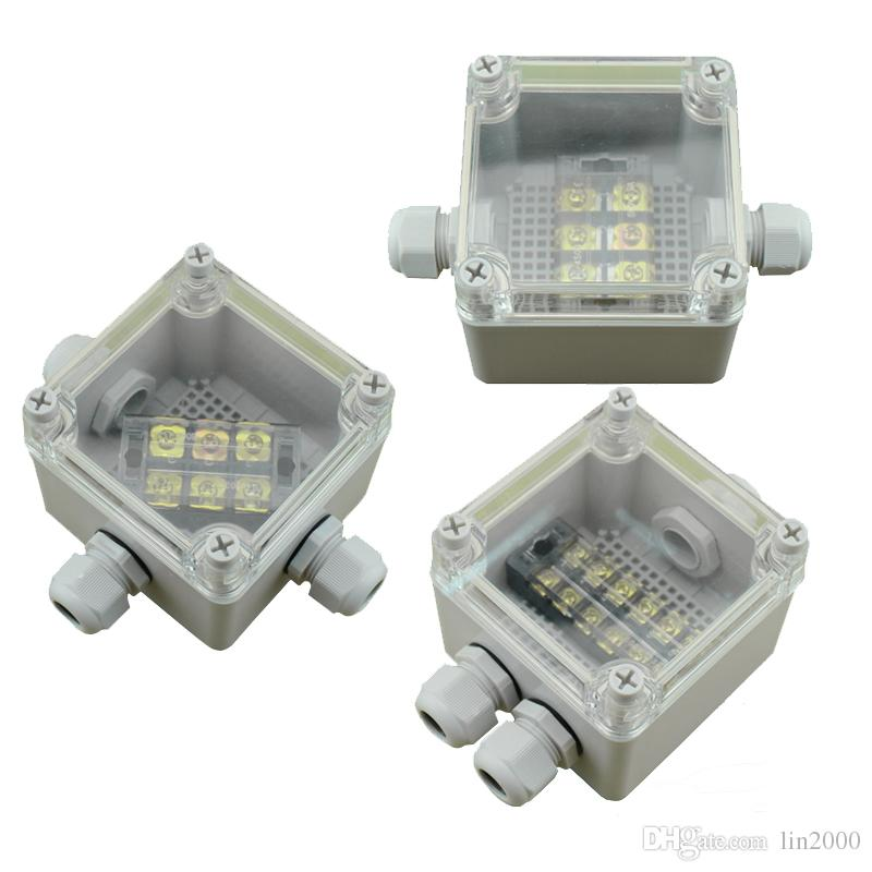 IP65 Waterproof Electric Enclosure Project Junction Box Clear Cover with Terminal Blocks 100*100*75mm