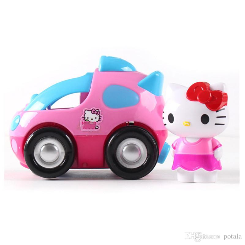 1PC Pink Remote Control 4CH RC Car Doraemon Electric Toys Cute Hello Kitty Funny kids Toys Party Radio Racing Controlled Cars KT Cat Vehicle