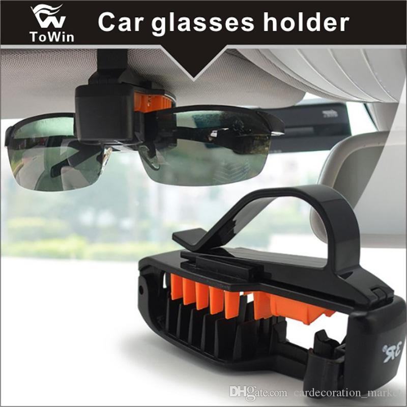 Portable Multi-functional Glasses Holder for Car Sun Visor, Perfect Storage Organizer,Sunglasses Eyeglasses Mount for Car,Car Visor Clip.