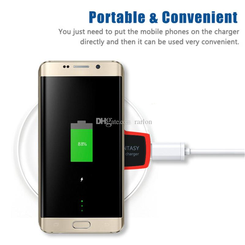 on sale 0fa92 2b229 Crystal Qi Wireless Charger Plate For Samsung Note 8 S8 Plus Iphone X 8  High Pad Transmitter With Retail Package NO Fast Charging Wireless Charging  ...