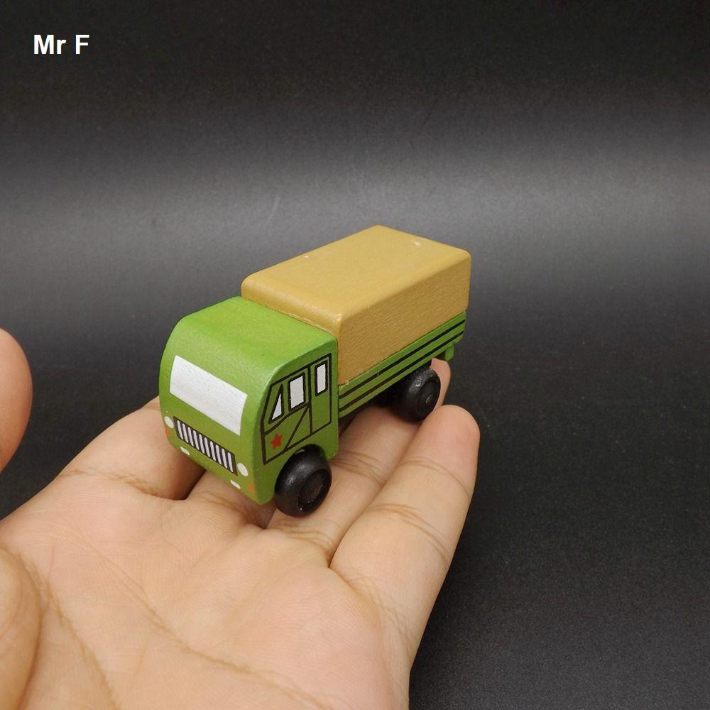 رائعة مصغرة مضحك شاحنة خشبية نموذج اللعب العسكرية مع عجلات صغيرة أفضل الهدايا للأطفال التعلم التعليمية دعامة الأداة