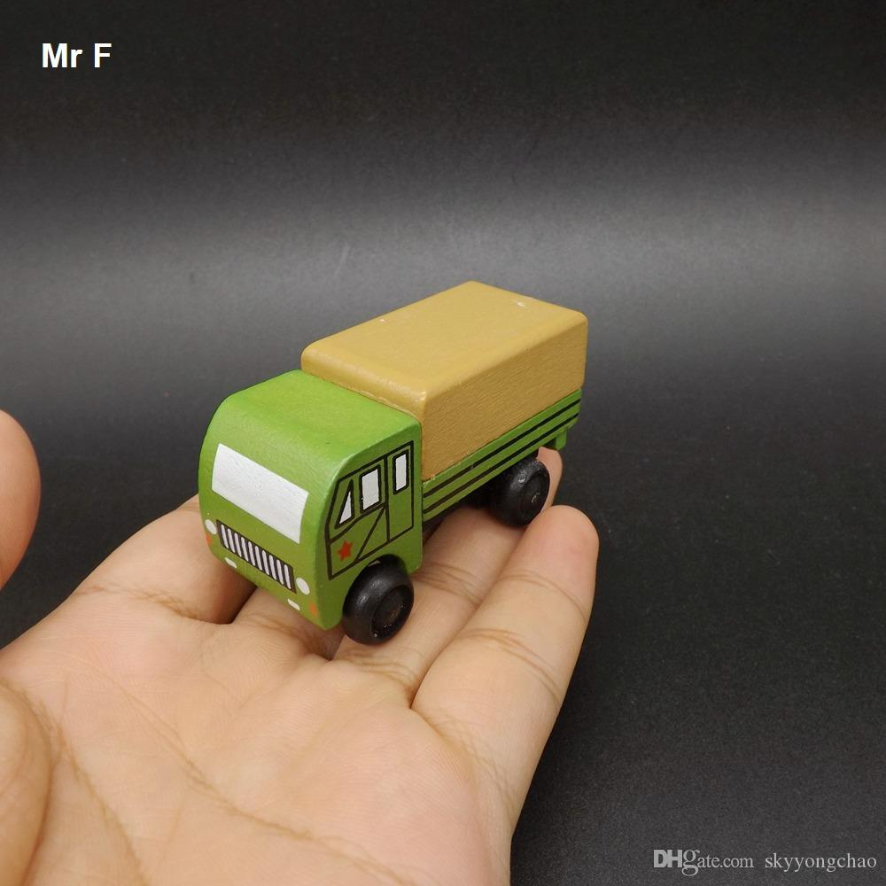 Exquisite Mini Funny Wooden Truck Military Model Toys With Small Wheels Best Gifts For Kids Learning Educational Teaching Prop Gadget