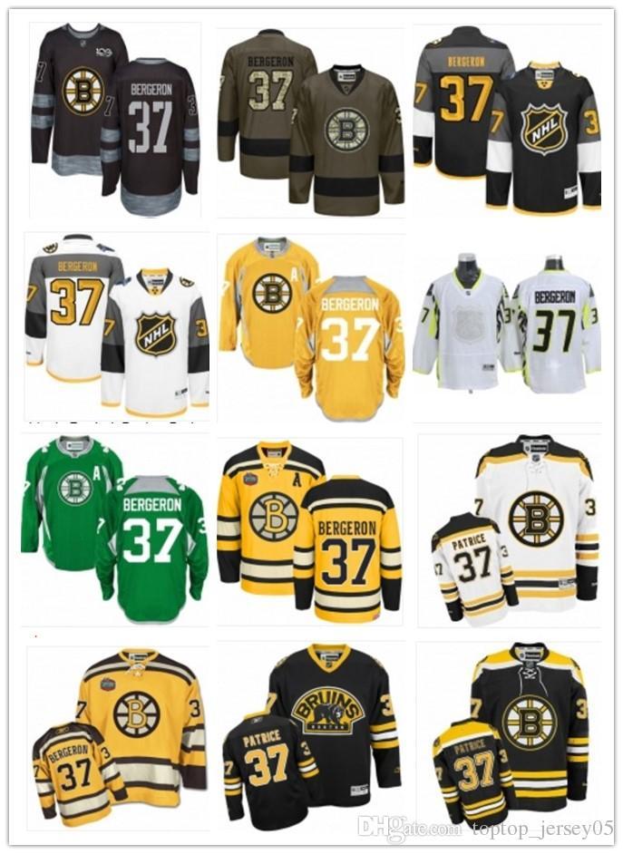 sale retailer 88eec 0fffa 2018 2018 Can Boston Bruins Jerseys #37 Patrice Bergeron Jerseys  Men#WOMEN#YOUTH#Men'S Baseball Jersey Majestic Stitched Professional  Sportswear From ...