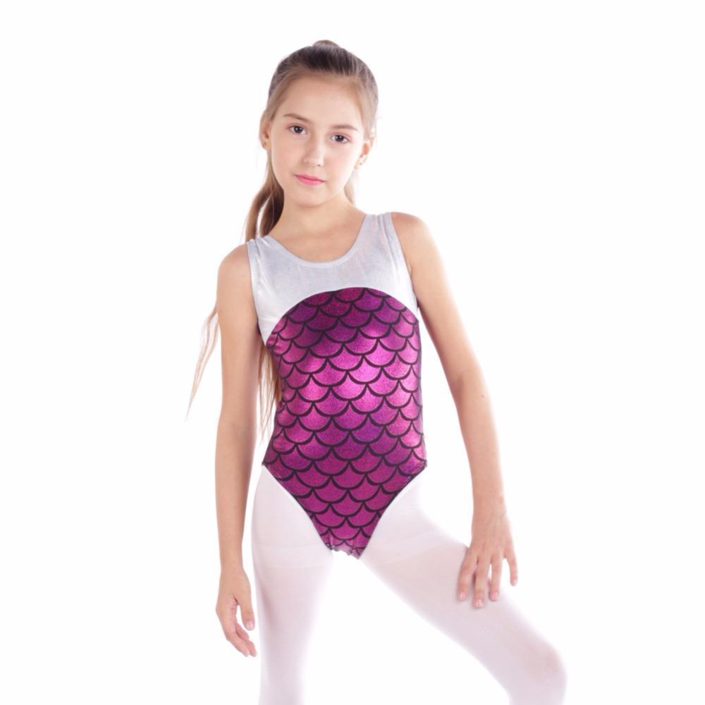 Kid Girl Gymnastics Ballet Dance Sleeveless Leotard Dance wear Athletic Training