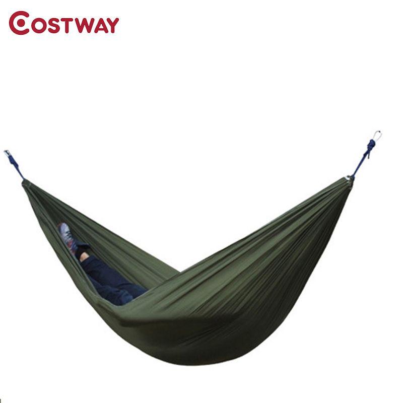 COSTWAY Outdoor Portable Deux personnes Parachute Hamac Voyage Camping Dormir Hamaca Meubles De Jardin 275x140cm W0145