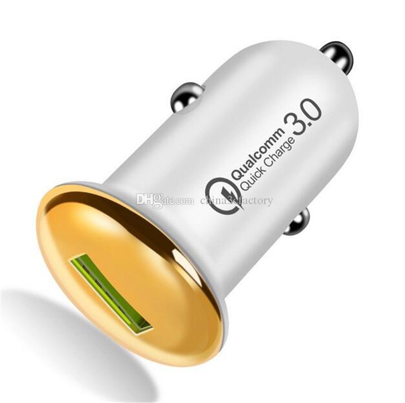 QC 3.0 3A Mini USB Car Charger Quick Charge 3.0 мобильный телефон автомобильное зарядное устройство адаптер универсальный для iPhone Samsung
