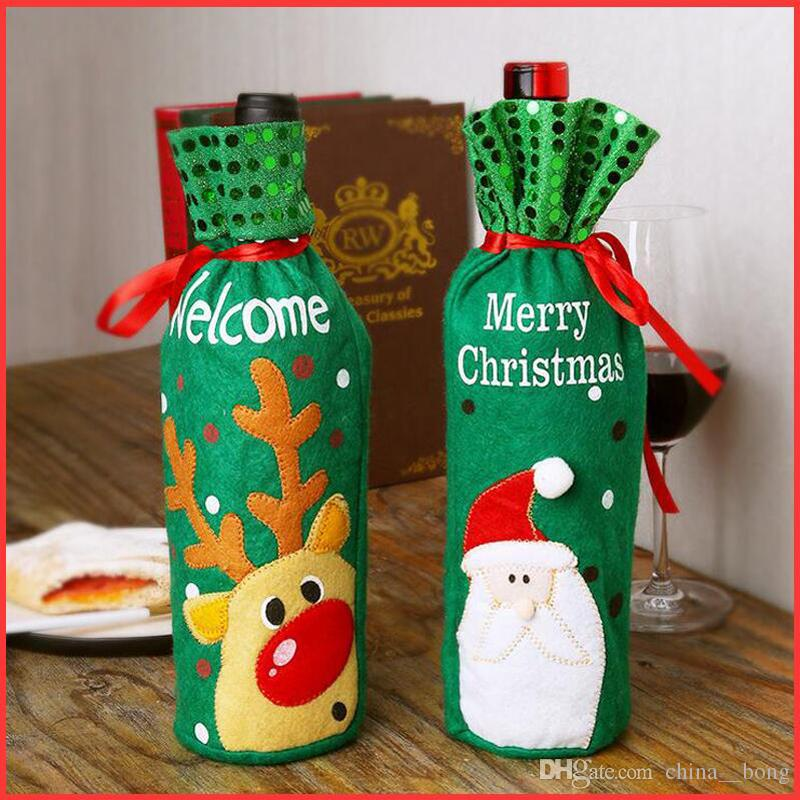Christmas red wine bottle set elk/snow man/Santa Claus red wine bag Christmas champagne bottle set decoration