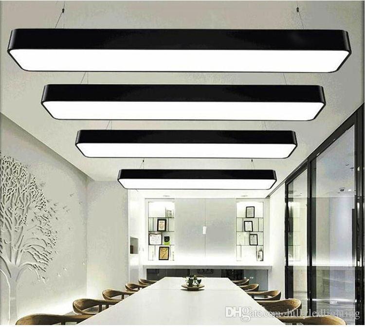 LED L120cm Pendant Light Modern Style rectangular ceiling pendant light home restaurant mall lighting Made in china