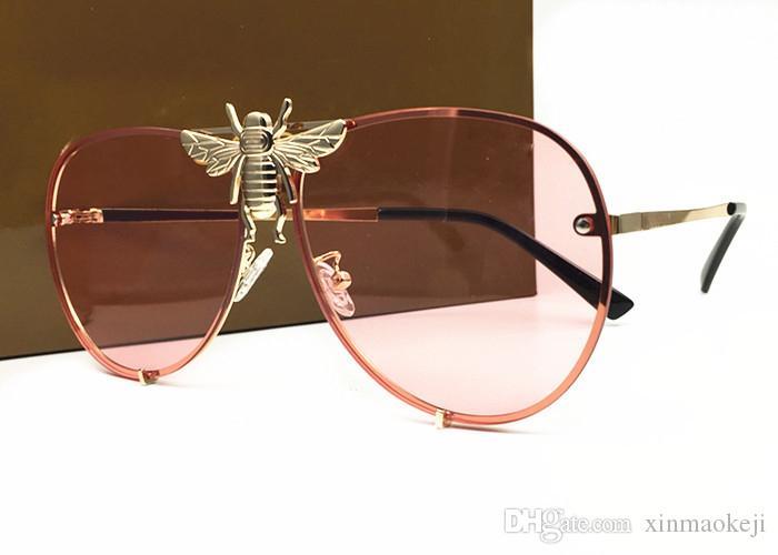 Heißer verkauf luxus FRAUEN metall retro rahmen marke designer vintage Eyewear sonnenbrille Für frauen schatten Mode UV sonnenbrille mit fall