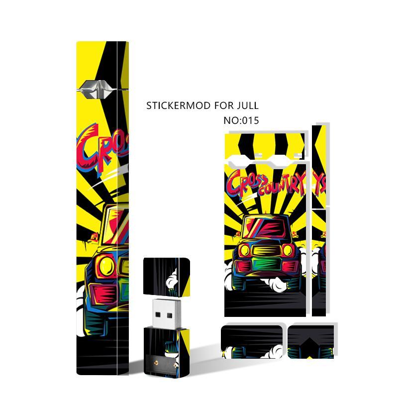 Skin Skins Wraps Decal Sticker Cover Cover Sleeve per Jul Battery Starter Kit e Caricabatterie USB Vape Pen Mod Adesivi protettivi 23 Disegni