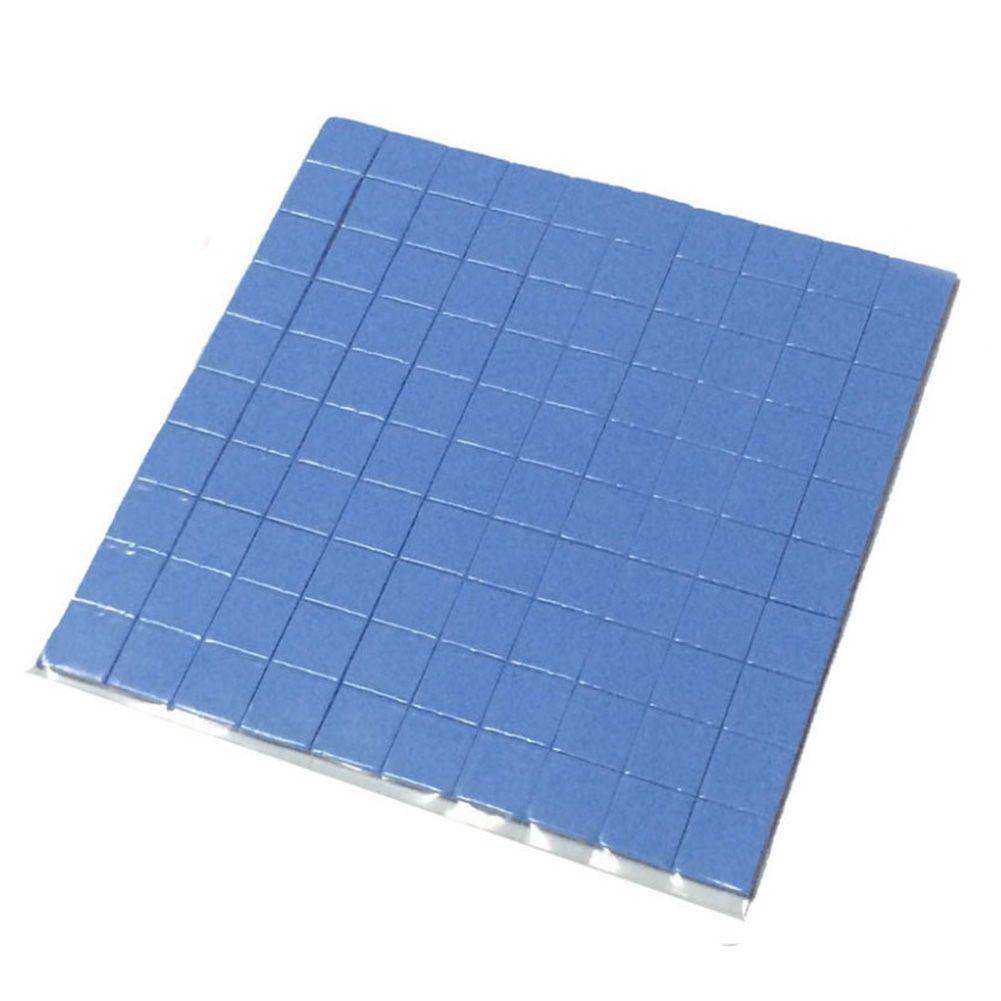 High quality 10mm*10mm*1mm 100 pcs Thermal Pad GPU CPU Heatsink Cooling Conductive Silicone Pad