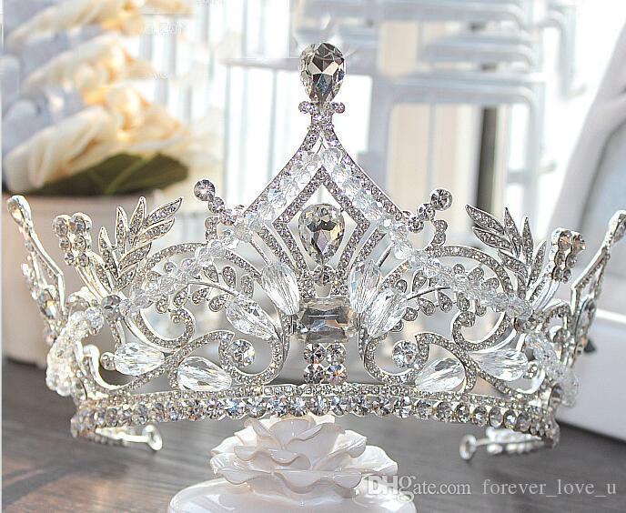 2019 nouvelle arrivée de qualité supérieure couronnes de mariée bling bling cristaux cristaux de mariage couronne mariée hidale diadème de mariage accessoires