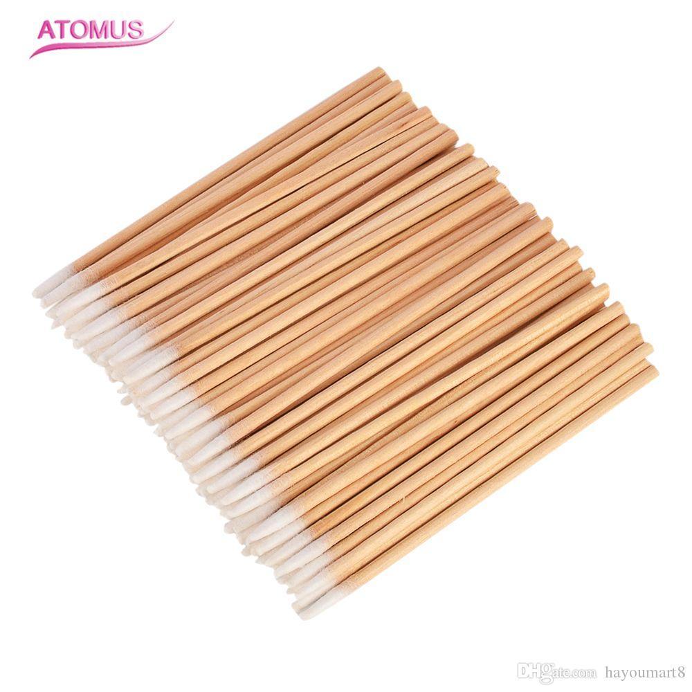 100 teile / satz einkopf Holzstäbchen Wattestäbchen Stick Für Medizinische Heilung Gesundheit Schönheit Nasen Ohren Reinigung Hygiene Einweg Make-Up Stick