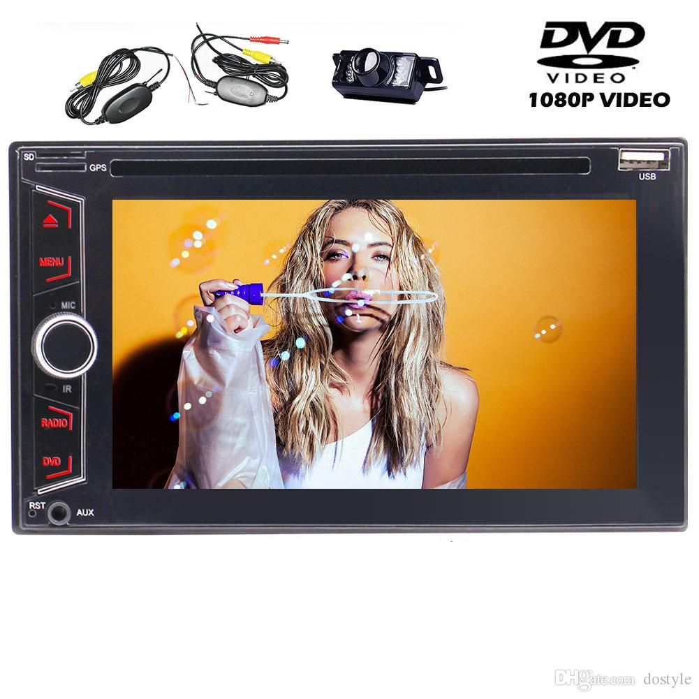 6.2'' Double 2Din Car Stereo In Dash Auto Radio Bluetooth car DVD Player Multi-Media USB/SD/AUX-IN Steering Wheel Control Subwoofer Output
