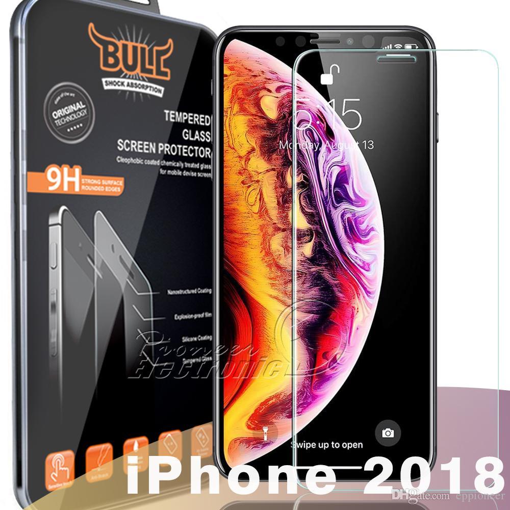 Choque Touro Marca Para 2020 novo iPhone 12 mini-11 PRO XR XS MAX X de vidro temperado para Iphone 6 7 Plus Samsung A50 A60 2.5D protetor de tela