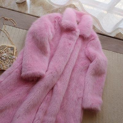 2018 Nuovo stile High-end moda donna Faux Fur Coat S2