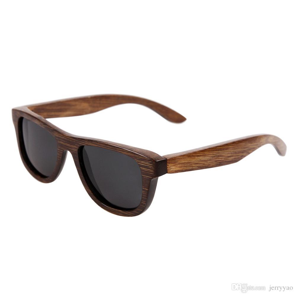 100% handgjorda naturliga bambu solglasögon polariserade glasögon bambu trä solglasögon Ny modedesign UV400 Skydda födelsedagspresent