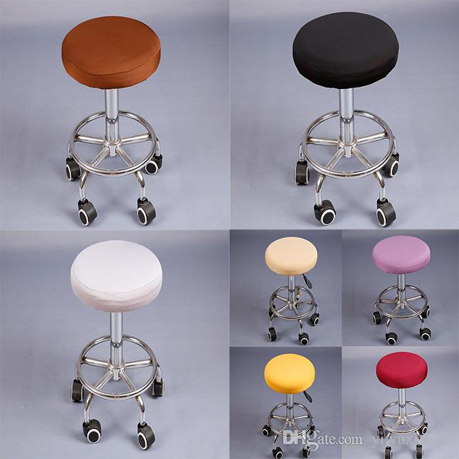 solid round chair covers bar stool covers elastic seat cover home chair slipcover bar stool chair protector