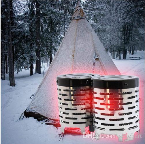 미니 히터 새로운 명소 원적외선 야외 여행 캠핑 장비 따뜻한 텐트 낚시 난방 스토브 캡 커버 NY042