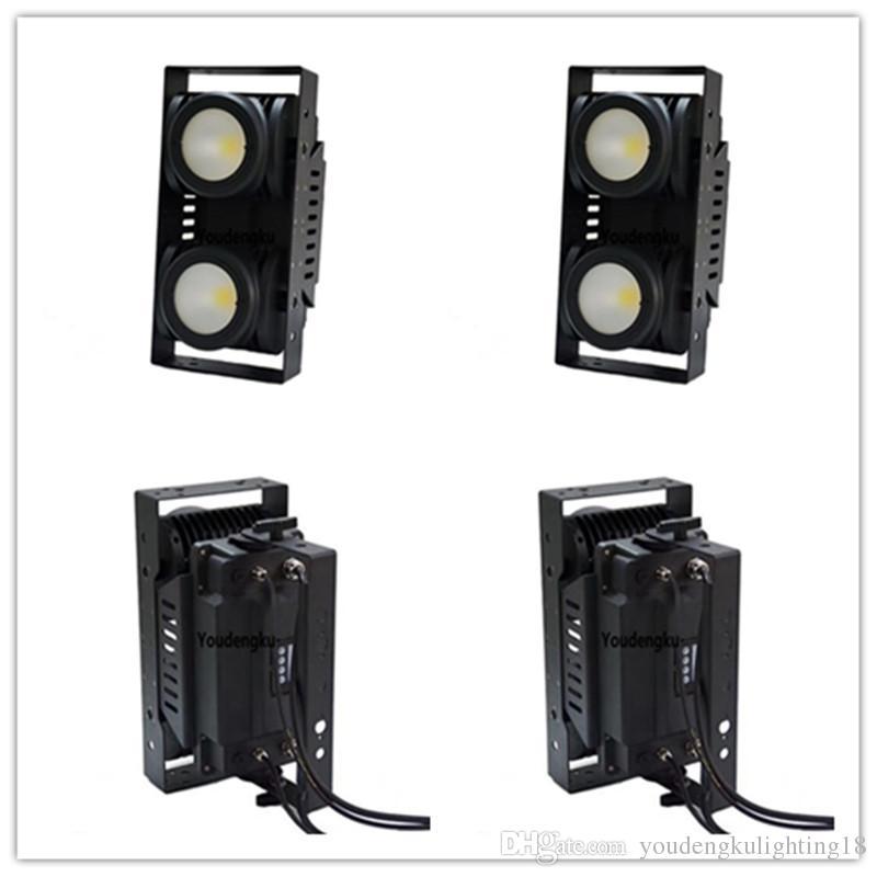 2 parça 200 w koçanı led blinder arı göz 2 gözler ışık WC 2in1 piksel ışın yıkama IP65 su geçirmez zemin dmx LED COB izleyici blinder