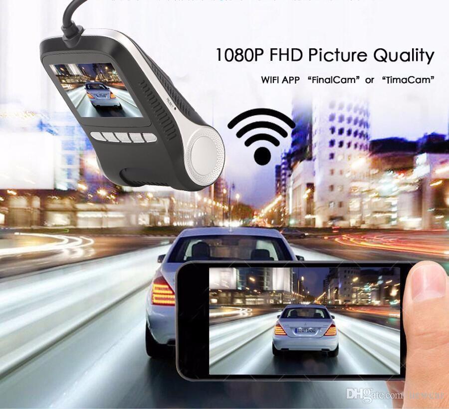 Newcar Araba Dvr Mini Wi-Fi Araba DVR Kamera Dashcam Full HD 1080 P Video Registrator Kaydedici G-sensor Gece Görüş Çizgi Kam