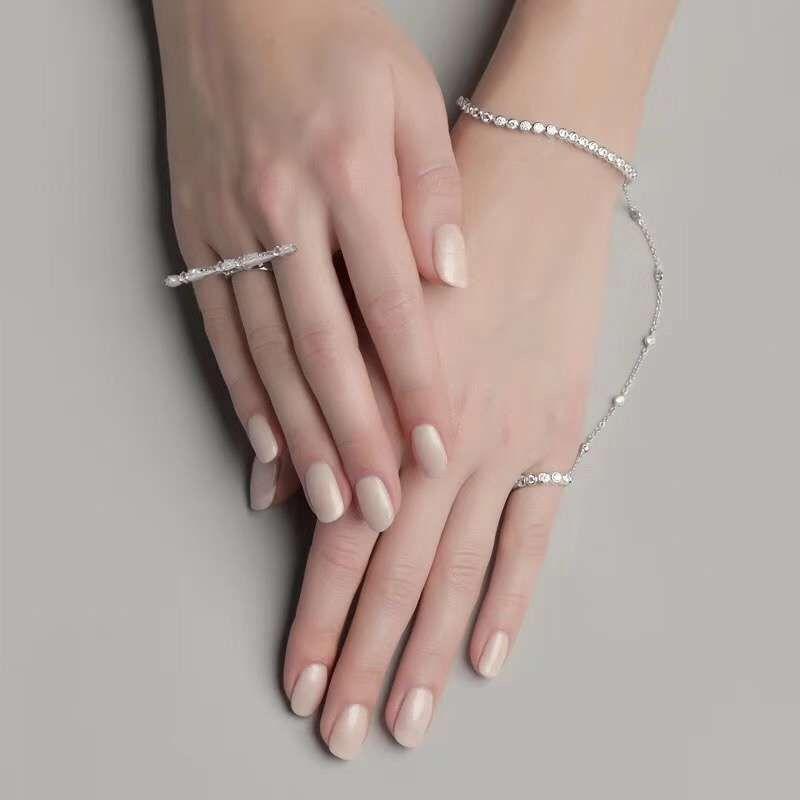Hand chain 201pu Hand jewelry Purple slave bracelet Finger bracelet Ring bracelet Hand bracelet Bracelet ring Hand finger jewelry