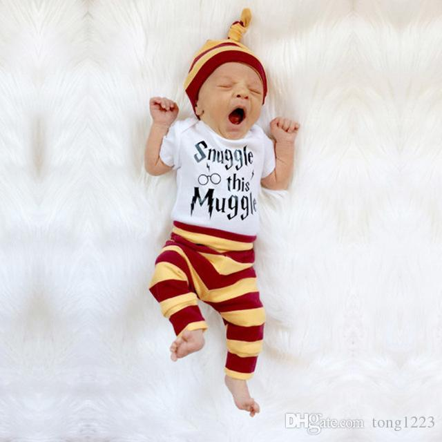 sophisticated technologies noveldesign picked up 2019 2018 Fashion Baby Boy Clothes Newborns Summer Cotton Short Sleeve  Stripe Baby Romper Casual Suit Baby Girls Clothing Outfits From Tong1223,  ...