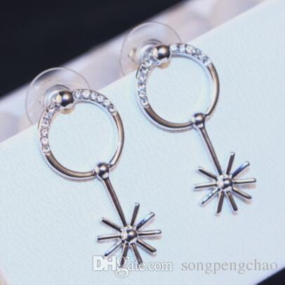 Nowy Nowoczesny Minimalistyczny Styl Damska Kolczyki Moda Wysokiej Jakości Europejska Długi Diament Kolczyki Klasyczne Retro Ladies Jewelry