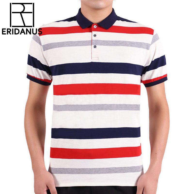 2018 New Shirt Männer Business Casual Breath gestreiftes Hemd mit kurzen Ärmeln Reines 100% Baumwolle Arbeitskleidung s M687