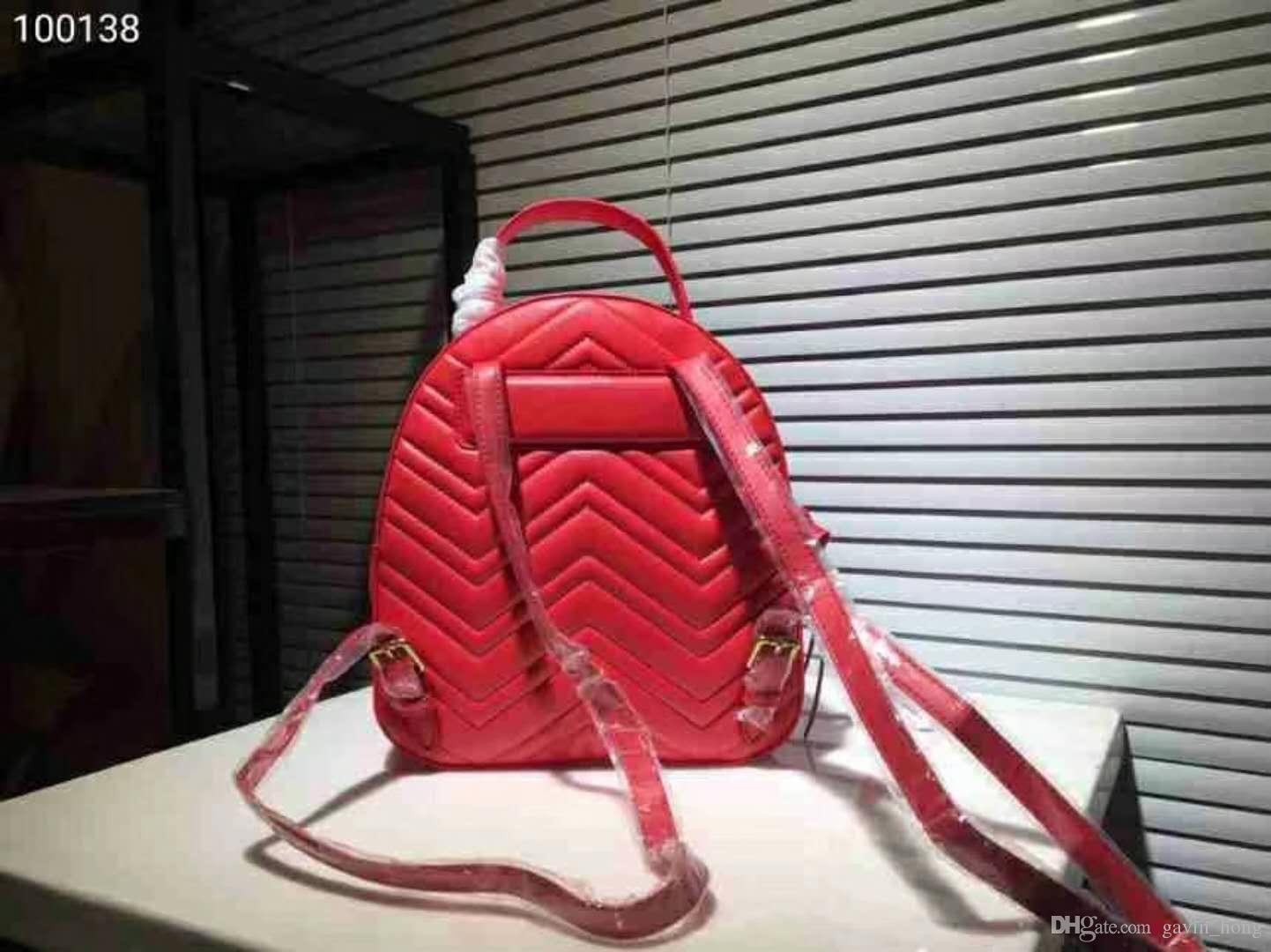 Marchi di lusso originali Zaino designer borse borse borse reali marmont hight famoso qualità pelle vacchetta in pelle bovina genuina backpa wojcn