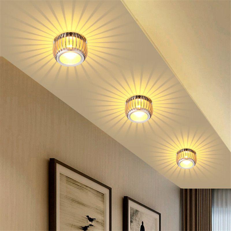 الصمام ضوء السقف 3 وات سطح الخيالة الحديثة أضواء السقف LED الإضاءة AC85-265V لغرفة المعيشة مصباح