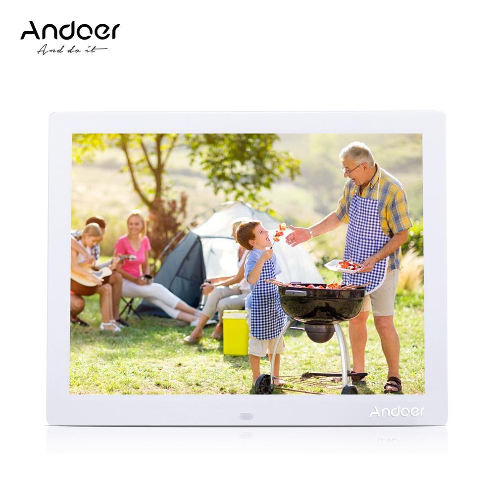 Uzak Masaüstü En iyi hediye ile toptan 15 '' HD TFT-LCD Dijital Fotoğraf Çerçevesi 1024 * 768 Resim Çerçevesi çalar saat MP3-MP4 Film Oyuncu