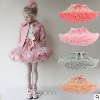 Neonate Tutu Gonna Ballerina Pettiskirt Layer Fluffy Bambini Ballet Gonne per la festa Dance Princess Girl Tulle Minigonna Boutique