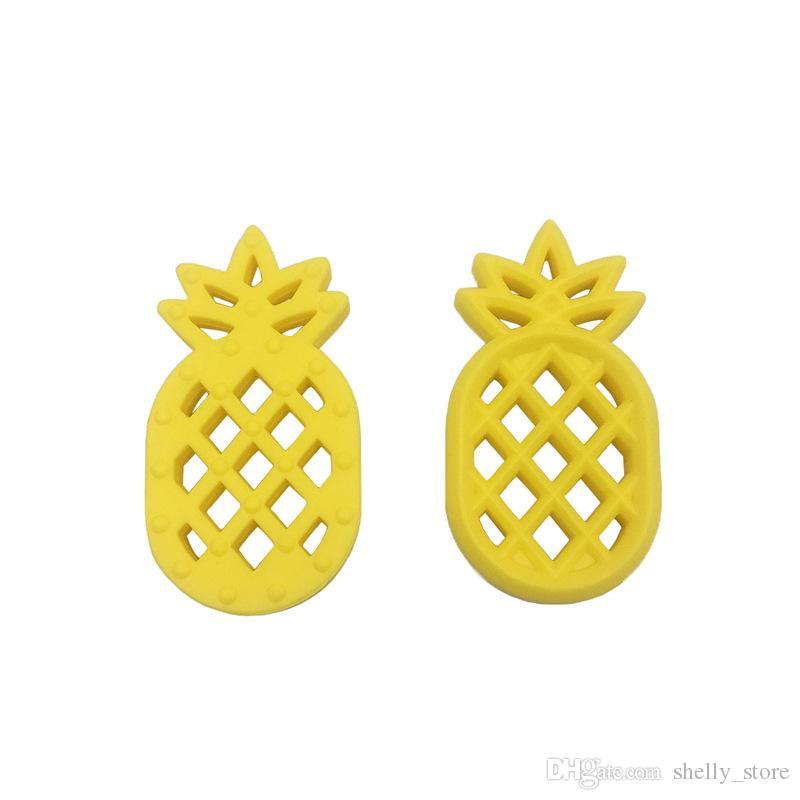 Pineapple BPA Free Silicone Teether Food Grade Silicone Craft Supplies DIY Silicone Supplies Canada USA Non Toxic Silicone Pendant