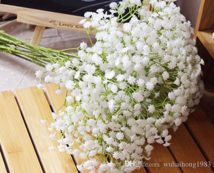 Gypsophila ipek bebek nefes Yapay Sahte Ipek Çiçekler Bitki Ev Düğün Ev Dekorasyon Ücretsiz Kargo