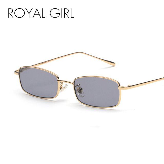 Women Vintage Small Square Sunglasses Fashion Rectangular Frame Retro Eye Wear