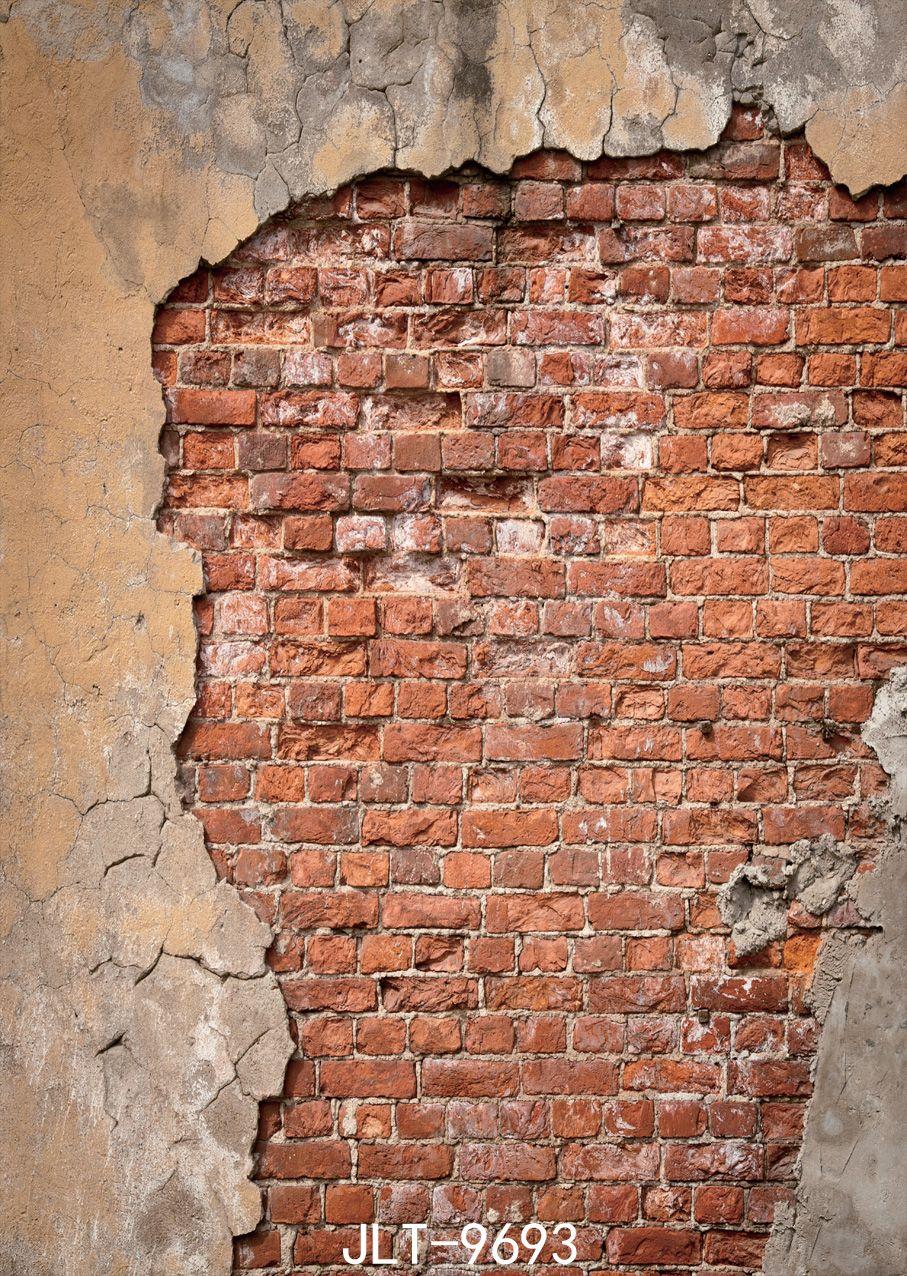 Broken Wall Holzboden 5X7ft Kinder Baby Fotografia Vinyl Fotografie Kulissen Studio Decor Hintergründe 9693