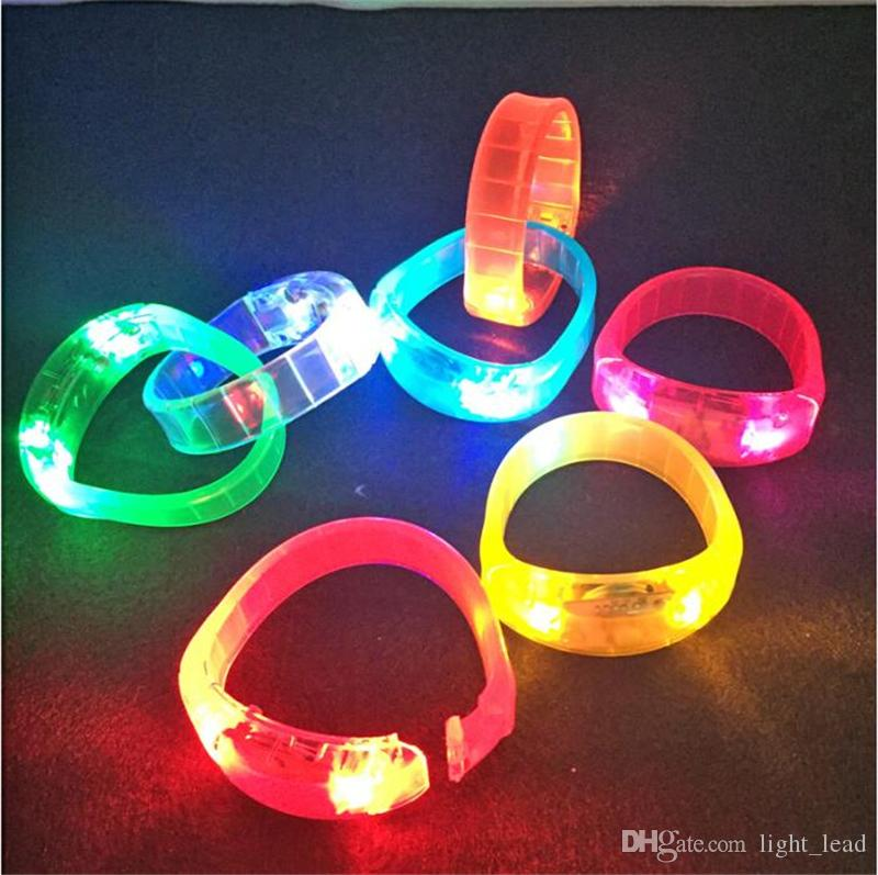 4 to 96 LED Light Up Glow Colour Flashing Light Bracelet Disco Party Party Bag