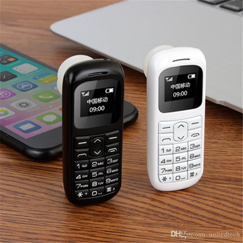 High quality small cellphone C001 Bluetooth Mini Mobile Phones Bluetooth Dialer Universal Wireless Headphone Cell Phone BM50 with retail box