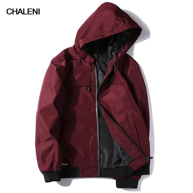 Ultima giacca a maniche lunghe di CHALENI uomini giacca moda cappotto solido casuale trench coat di alta qualità abbigliamento uomo XY-ZK80