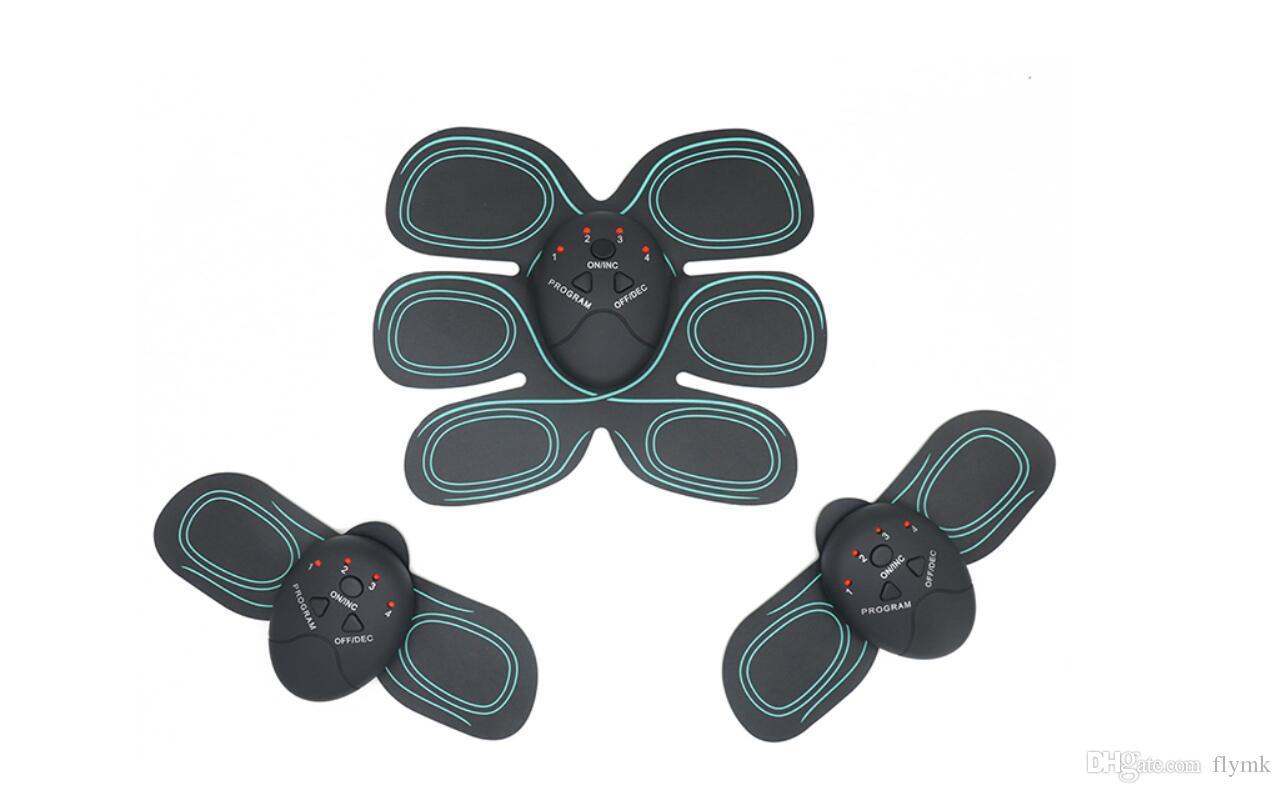 Inteligente Final ABS Estimulador EMS Exercitador Muscular Cinto Queimador de Gordura Massageador Corpo Massagem Slimming Pad AB Conjunto Completo de Braços