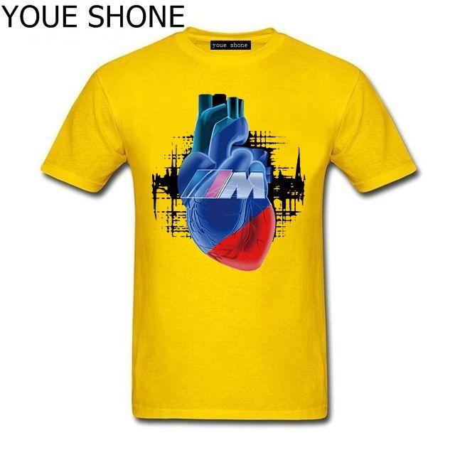 Fashion brand design Car Tshirt M Power Logo Auto Auto Blut Manner T-Shirt stampata Maglietta Hip-Hop Tops pullover Uomo Cool cotone T-shirt