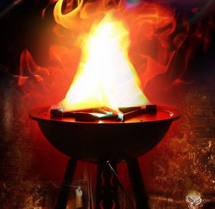 Hot Led efectos de llama de luz Brasero luz fuego lámpara colgante luz del soporte para halloween decoración de la fiesta de navidad iluminación LLFA