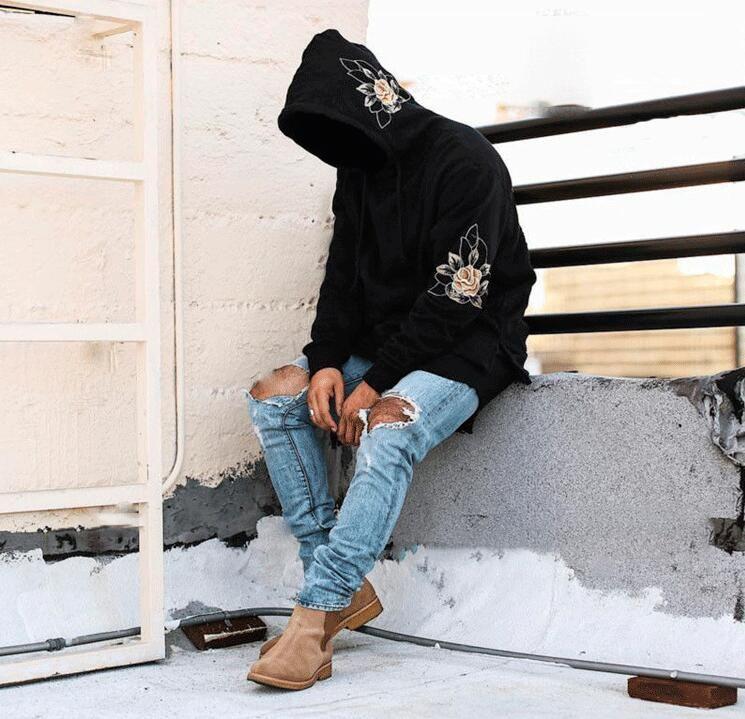 Großhandel Rose Hoodies Für Männer Sweatshirt Schwitzt Harajuku Streetwear Hoodie Herren Hip Hop Kanye West Hoodies Sweatshirts Von Supreme888, $26.4