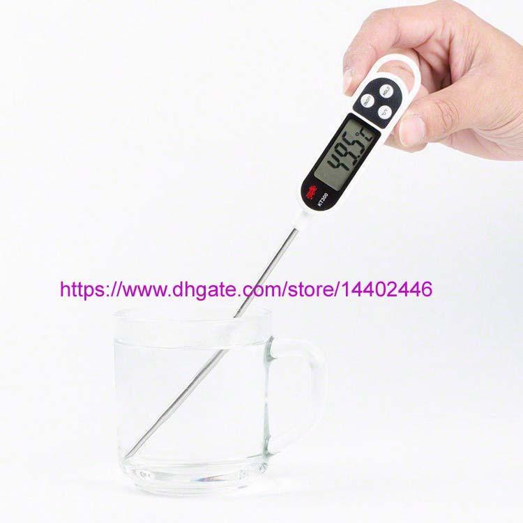 10pcs KT300 LCD Screen Digital Thermometer Temperature Sensor Probe Pen Shape Cooking Meat Kitchen BBQ Milk
