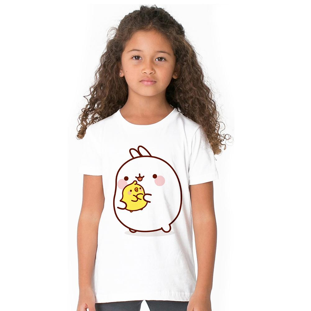 Acquista cartone animato molang e piupiu kids girl t shirt carino