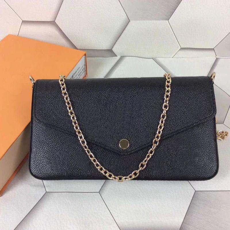 Leather clutch for women Evening Bags fashion chain purse lady shoulder bag handbag presbyopic mini package messenger bag card holder purse
