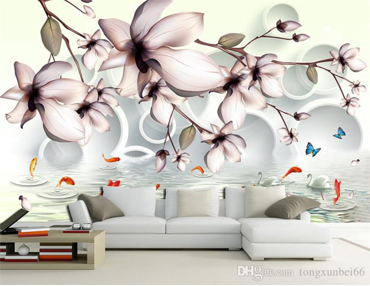 3D Black Flower Pattern WallPaper Murals Wall Print Decal Wall Deco AJ WALLPAPER