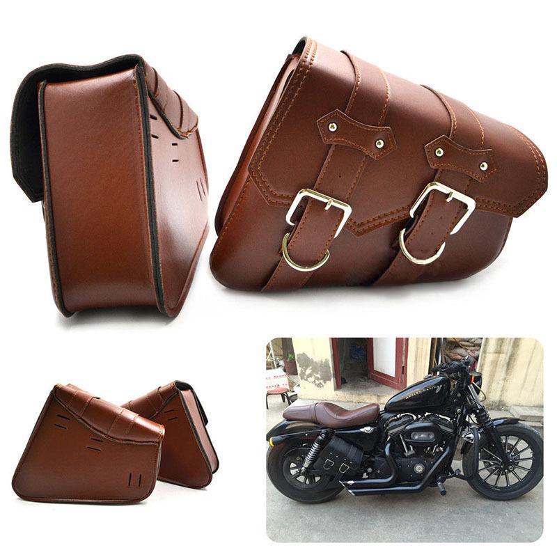 한 쌍 유니버설 도구 가방 할리 Sportster XL883 XL1200에 대 한 오토바이 안장 가방 순양함 측면 스토리지 도구 파우치